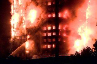 ΤΡΟΜΟΣ και πάλι στο Λονδίνο. Καίγεται κτίριο 27 ορόφων