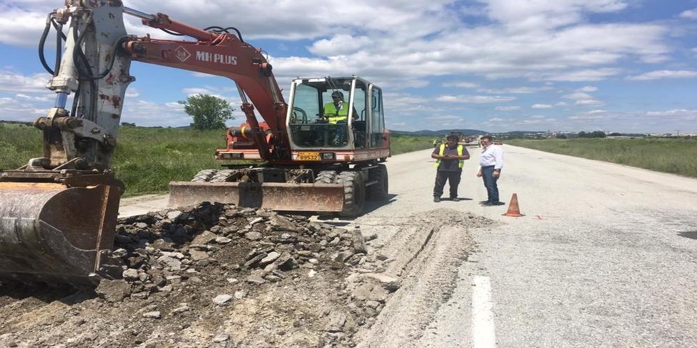 Ξεκίνησε η αποκατάσταση των φθορών στην εθνική οδό. Αυτοψία από Πέτροβιτς