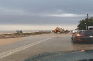 Σαμοθράκη: Πρόβλημα λόγω κακοκαιρίας στον δρόμο από Θέρμα προς Καμαριώτισσα(φωτό)