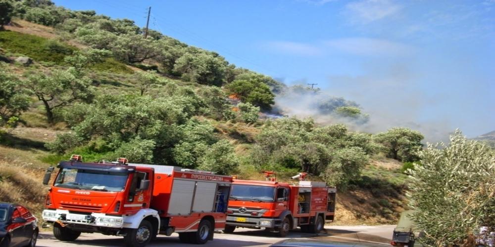 """Πυροσβεστική: """"Θα είχαμε σοβαρό πρόβλημα, αλλά το βράδυ ελέγξαμε την φωτιά στη Λευκίμη""""."""
