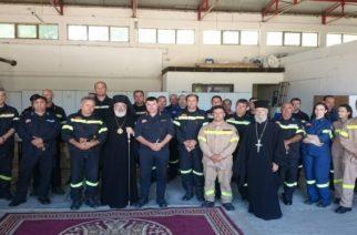Επίσκεψη και αγιασμό στην Πυροσβεστική του Σουφλίου ο Μητροπολίτης κ.Δαμασκηνός