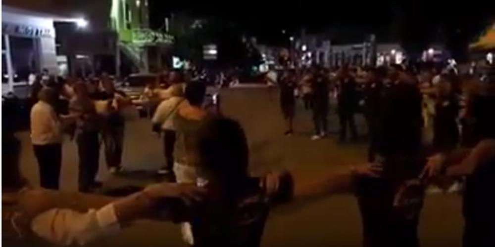Γλέντι με γκάιντες στο κέντρο του Σoυφλίου(video)