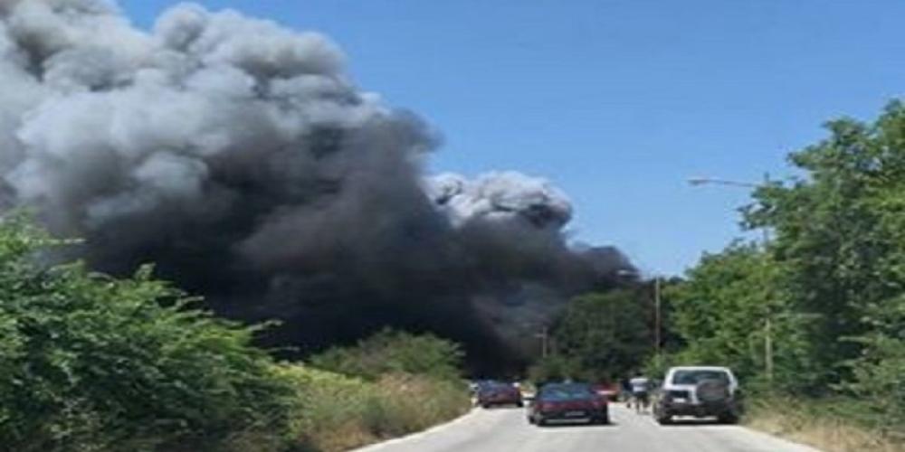 Κάηκε ολοσχερώς, ζημιές 1 εκατ. ευρώ στην αποθήκη του πρώην δημάρχου Χ. Τοκαμάνη