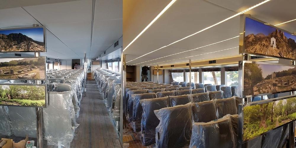 """ΔΕΙΤΕ πως είναι το εσωτερικό του νέου ταχύπλοου ΖΕΦΥΡΟΣ της """"SAOS Ferries""""(φωτό)"""