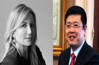 Κινέζος πρέσβης και Μαρέβα Μητσοτάκη σήμερα στο Σουφλί