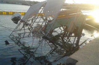 """Σαμοθράκη: ΔΕΙΤΕ τί απέμεινε από το σκάφος """"ΘΕΟΔΩΡΑ"""" που κάηκε χθες τα ξημερώματα"""