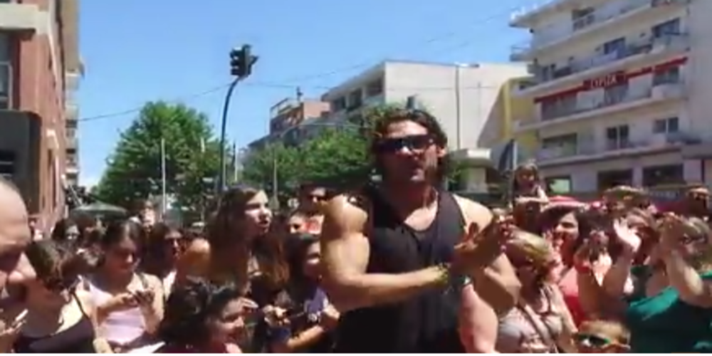 Ο Γιάννης Σπαλιάρας ήρθε στην Αλεξανδρούπολη αλλά πέρασε σχεδόν… απαρατήρητος (video)