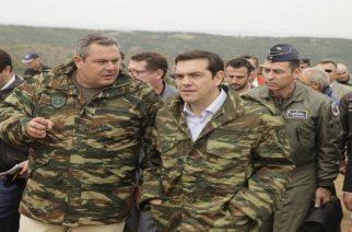 """Ο Πρωθυπουργός Αλέξης Τσίπρας με Πάνο Καμμένο στον Έβρο για την άσκηση """"Παρμενίωνας"""""""