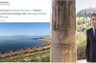 Πρέσβης ΗΠΑ Τζέφρυ Πάιατ από Αλεξανδρούπολη: Ιστορικό σταυροδρόμι και μελλοντικό ενεργειακό κέντρο