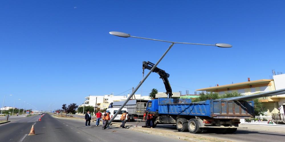Αποκατάσταση δικτύου ηλεκτροφωτισμού στον Απαλό και το αεροδρόμιο