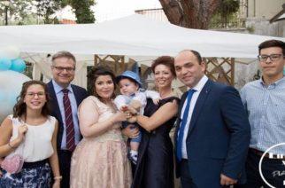 Το όνομα του αείμνηστου Περιφερειάρχη Γιώργου Παυλίδη, πήρε ο εγγονός του που βαφτίστηκε χθες