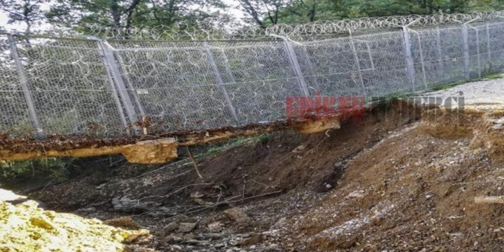 Έπεσε λόγω βροχών ο φράχτης στον Έβρο, στα σύνορα με την Βουλγαρία. Χαρά οι λαθρομετανάστες
