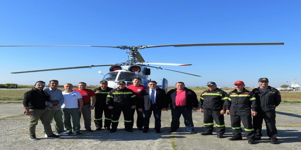 Επίσκεψη και ευχαριστίες Πέτροβιτς στο πλήρωμα του πυροσβεστικού ελικοπτέρου