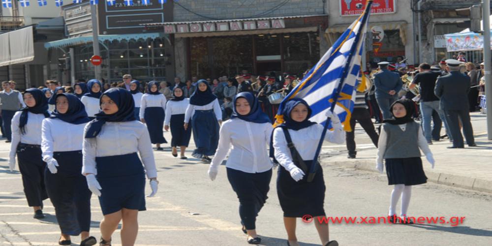 Παρέλαση με μαντίλες για ΠΡΩΤΗ φορά σε εθνική εορτή στην Ξάνθη!!!