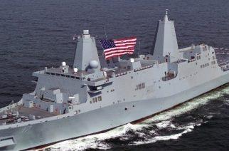 Πλοίο του αμερικανικού στόλου καταπλέει σήμερα στο λιμάνι Αλεξανδρούπολης. Θα φορτώσει τα ελικόπτερα