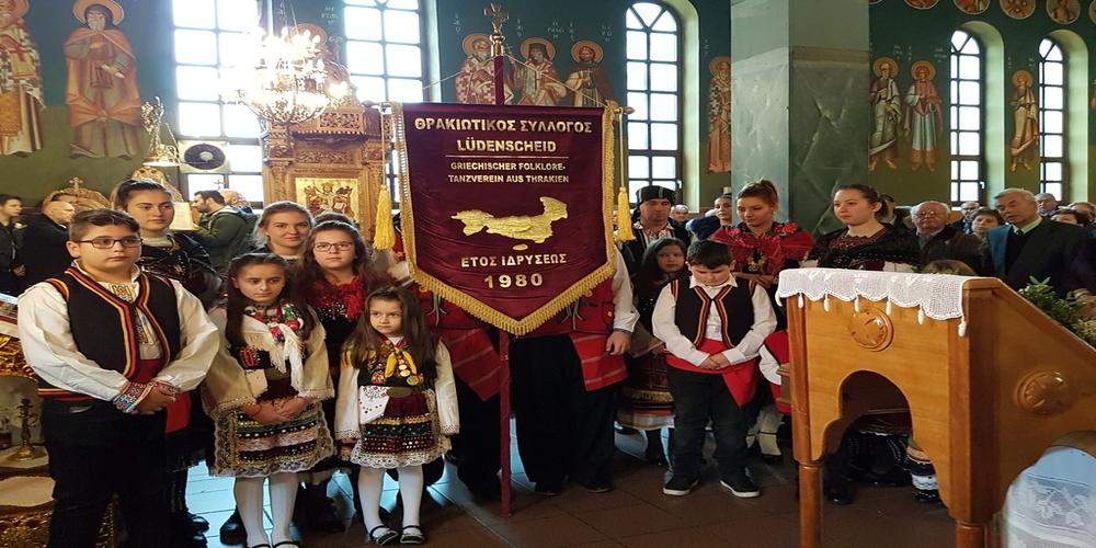 Γερμανία: Οι Θρακιώτες στο Λουντενσάϊντ γιόρτασαν τον Άγιο Νεκτάριο, προστάτη της Θράκης.