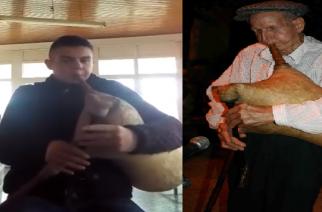"""Ο """"μαθητής"""" Γιώργος Συμεωνίδης παίζει τη γκάιντα του """"δάσκαλου"""" Θεοδόση Λογαρούδη… αποχαιρετώντας τον(video)"""
