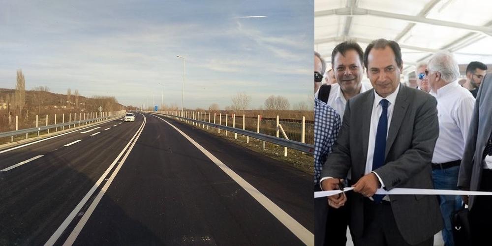 Ο υπουργός δύο σταθμών διοδίων (Μέστη, Αρδάνιο), θα εγκαινιάσει 15 χιλ. του ανολοκλήρωτου κάθετου άξονα