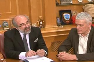 Συνάντηση του Δημάρχου Αλεξανδρούπολης Βαγγέλη Λαμπάκη με υπουργό κ.Τσιρώνη για το παλιό νοσοκομείο