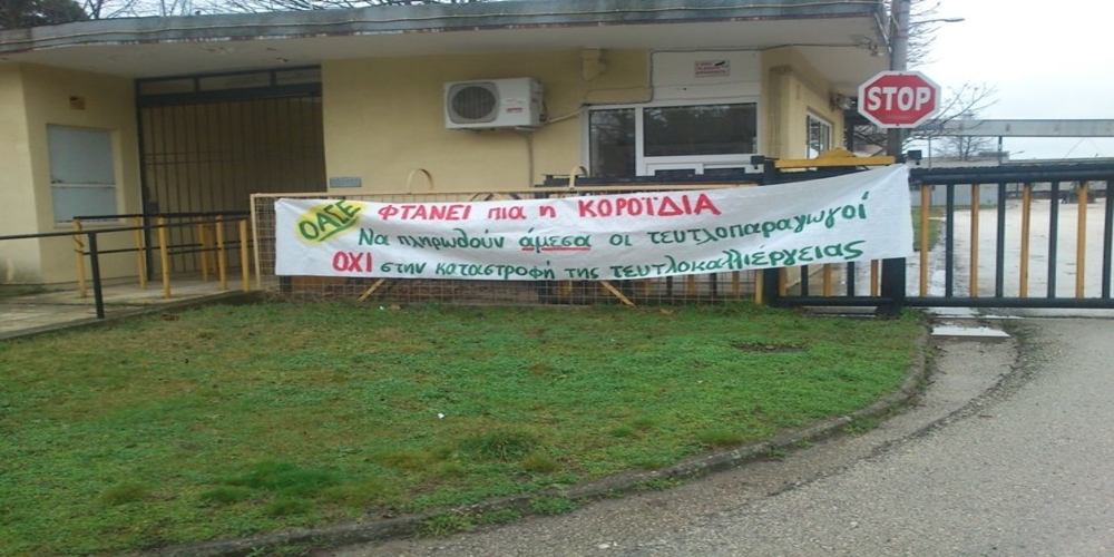 Κατάληψη του Εργοστασίου Ζάχαρης Ορεστιάδας απ' τους τευτλοπαραγωγούς