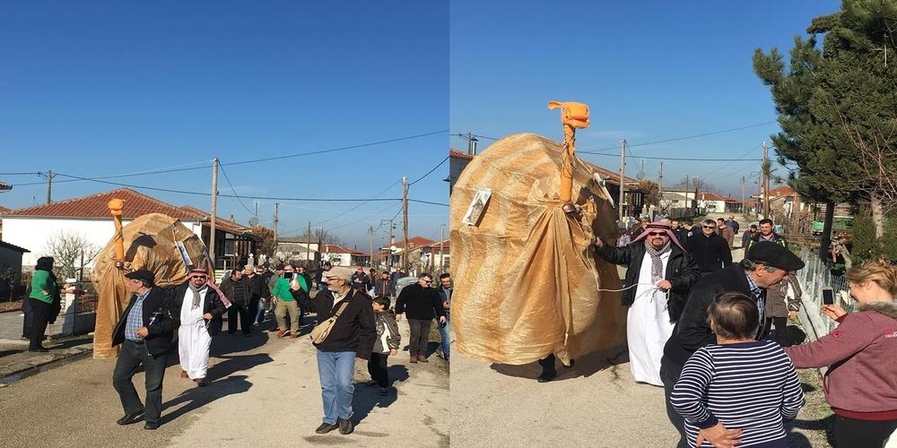 Το έθιμο της Καμήλας τήρησαν και σήμερα στο Θούριο Ορεστιάδας(video+ φωτό)