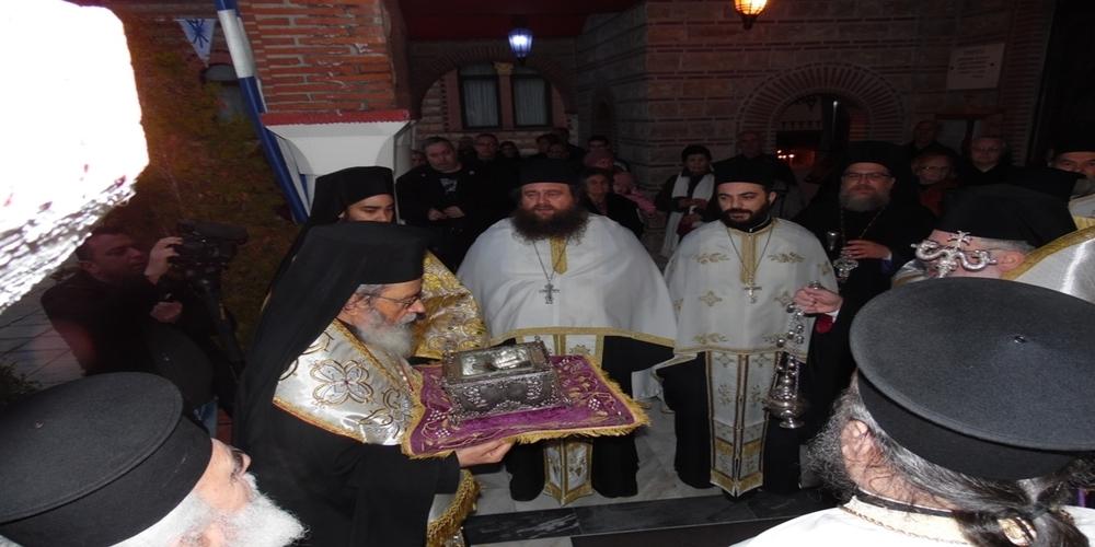 Ορεστιάδα: Υποδοχή ιερού λειψάνου του Τιμίου Προδρόμου για τη γιορτή των πολιούχων Αγίων Θεοδώρων