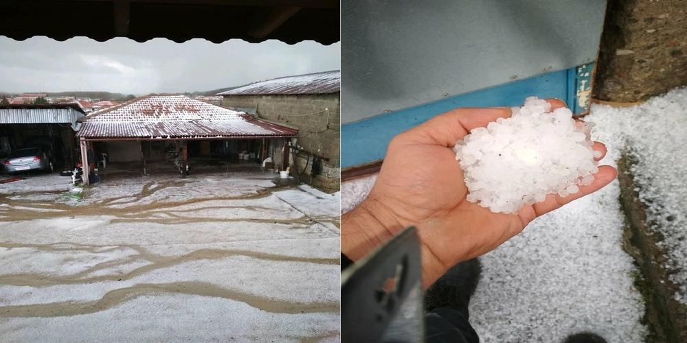 Χιόνισε… χαλάζι στα χωριά του Τριγώνου προκαλώντας καταστροφές (ΒΙΝΤΕΟ+φωτό)