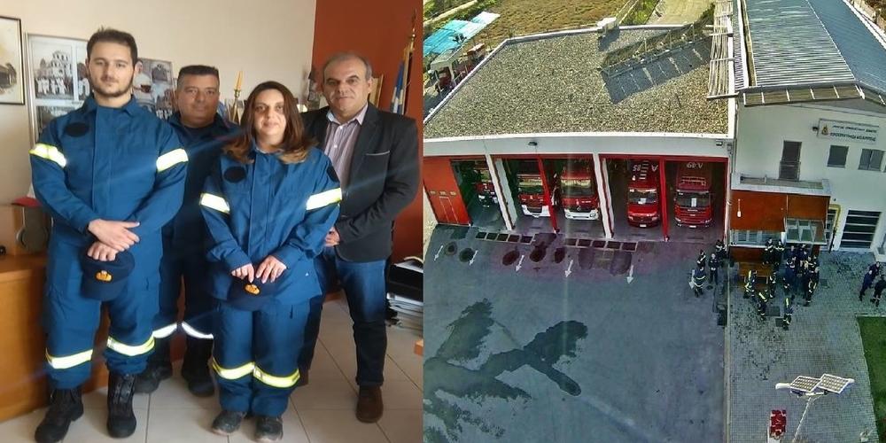Με δυο νέους εθελοντές Πυροσβέστες ενισχύθηκε το Εθελοντικό Πυροσβεστικό Κλιμάκιο Φερών