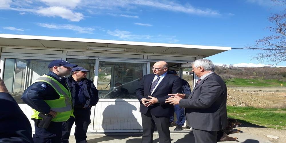 Συναντήσεις Δένδια με δημάρχους Ορεστιάδας, Διδυμοτείχου, Μητροπολίτη Δαμασκηνό και αστυνομικούς (φωτορεπορτάζ)