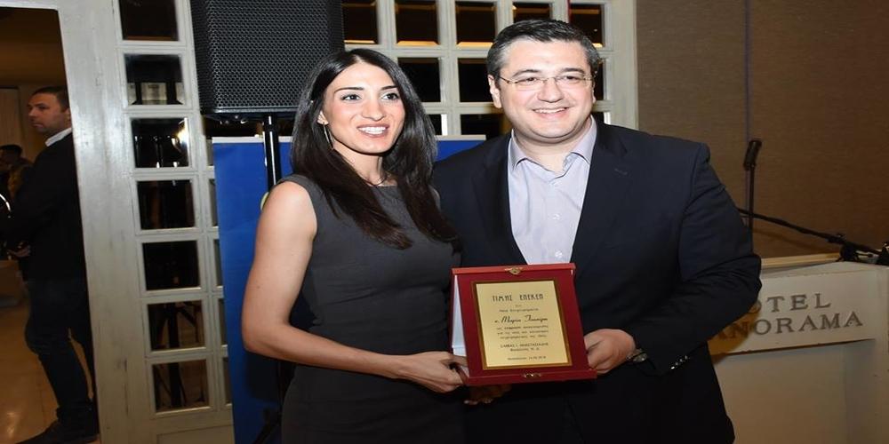 Τιμητική διάκριση ως Νέα Επιχειρηματίας για την Μαρία Τσακίρη, της TSAKIRIS FAMILY