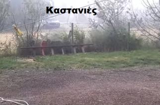 Χαλάζι χθες στα χωριά του Τριγώνου, αλλά ευτυχώς δεν κράτησε πολύ (ΒΙΝΤΕΟ)