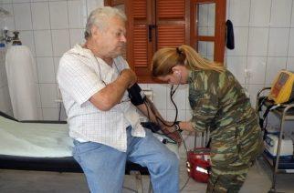 ΔΩΡΕΑΝ ΕΞΕΤΑΣΕΙΣ από Στρατιωτικό Ιατρικό Κλιμάκιο σε Λουτρά, Αύρα και Πυλαία