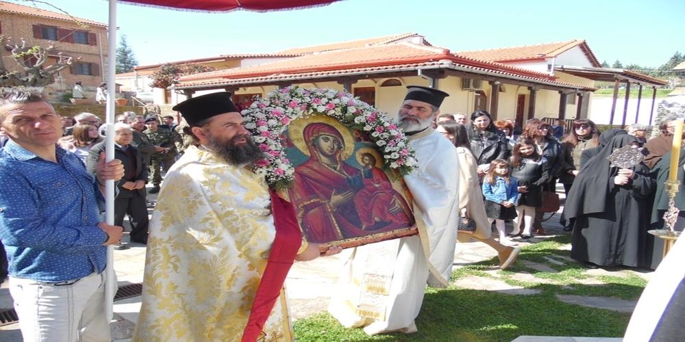 Η θαυματουργή εμφάνιση της ιεράς εικόνας της Πορταϊτίσσης, γιορτάστηκε στη Ιερά Μονή Κορνοφωλιάς