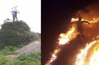 Έκαψαν και φέτος τον Ιούδα στην Αμφιτρίτη Αλεξανδρούπολης (ΒΙΝΤΕΟ)