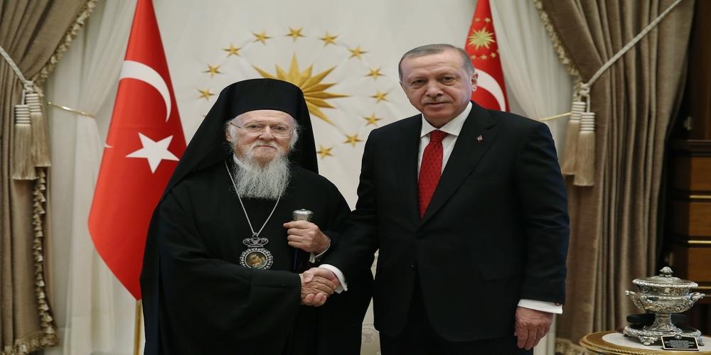 Σε καλό κλίμα η συνάντηση του Οικουμενικού Πατριάρχη Βαρθολομαίου με τον Τούρκο Πρόεδρο Ερντογάν