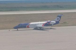 Το ιδιωτικό αεροπλάνο του Δημήτρη Μελισσανίδη δυο μέρες στο αεροδρόμιο της Αλεξανδρούπολης