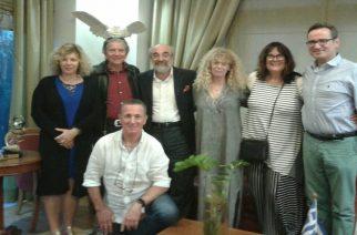 Επίσκεψη Εβραίων απογόνων Αλεξανδρουπολιτών στον Δήμαρχο Αλεξανδρούπολης Βαγγέλη Λαμπάκη