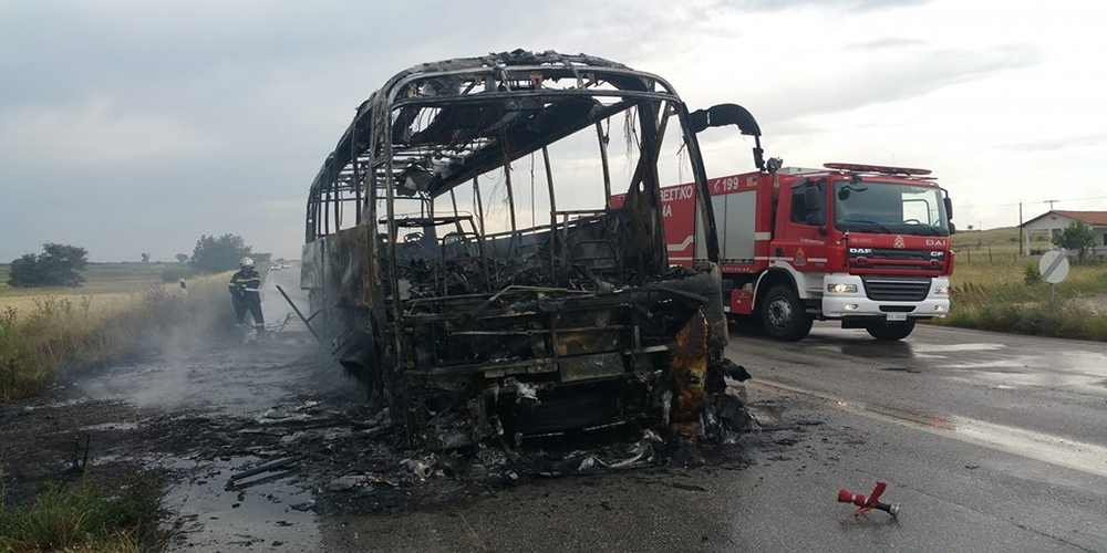 Αποκαίδια έγινε το λεωφορείο που χτυπήθηκε από κεραυνό. Τί λέει ο Πρόεδρος του ΚΤΕΛ Έβρου