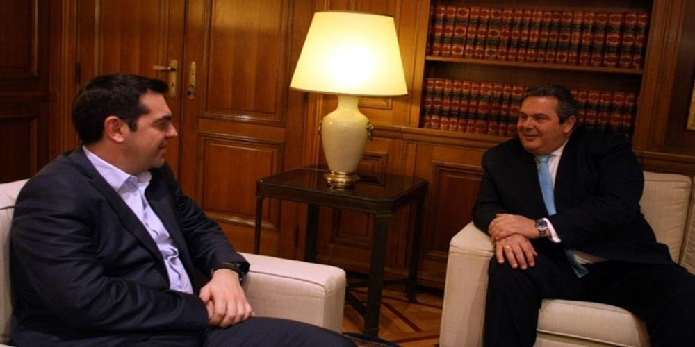 Ξαφνική συνάντηση Τσίπρα-Καμμένου στο Μαξίμου, μετά τη σύλληψη του Τούρκου στις Καστανιές