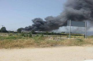 """ΚΙΝΔΥΝΟΣ: Εκκενώνονται χωριά στην Ξάνθη λόγω τοξικών αερίων απ' το εργοστάσιο της """"Γερμανός"""" που καίγεται(ΒΙΝΤΕΟ)"""