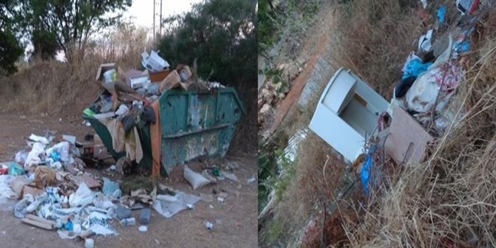 Σε απέραντο σκουπιδότοπο έχει μετατραπεί το ρέμα Μαΐστρου (φωτορεπορτάζ)