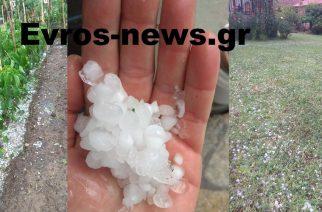ΚΡΙΜΑ: καταστροφικό χαλάζι τώρα στο Παλιούρι και άλλα χωριά του Διδυμοτείχου (ΒΙΝΤΕΟ)