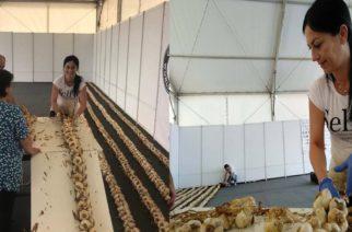 Καταρρίπτεται σήμερα το ρεκόρ Γκίνες μήκους πλεξούδας σκόρδου. Το παίρνει η Ελλάδα, ο Έβρος και η Νέα Βύσσα