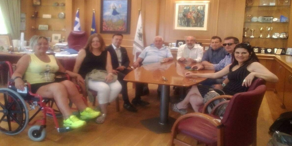 Συνάντηση Λαμπάκη με αντιπροσωπεία Ατόμων με Αναπηρία από Ανατολική Μακεδονία και Θράκη