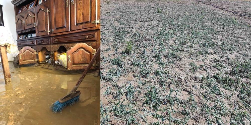 Τεράστιες ζημιές απ' τη χθεσινή καταιγίδα σε Ισαάκιο και άλλα χωριά του Διδυμοτείχου (ΒΙΝΤΕΟ+φωτό)
