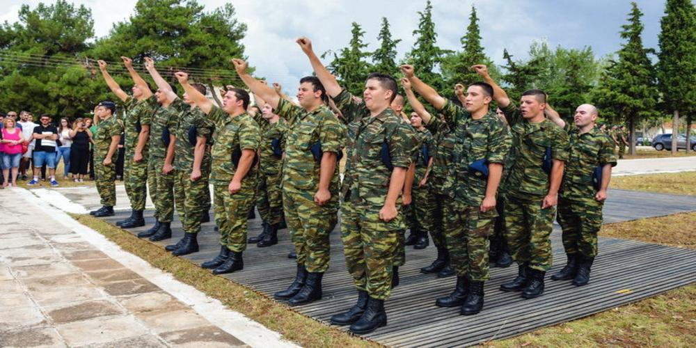 Ορκομωσία νεοσυλλέκτων Δ' ΕΣΣΟ σε στρατόπεδα του Έβρου