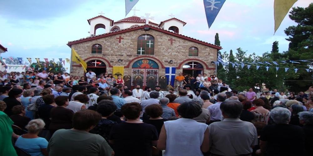 Πλήθος κόσμου στον Εσπερινό του εορτάζοντος Ι.Ν. Αγίας Μαρίνας Μαίστρου (φωτορεπορτάζ)