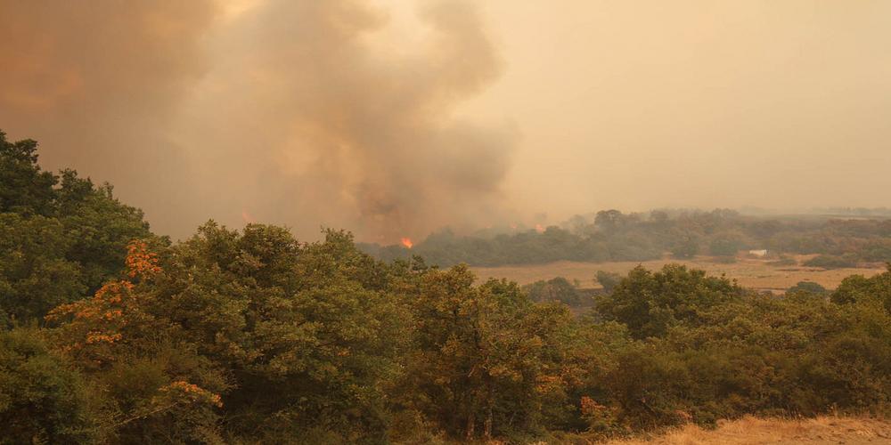 Φωτιά από κεραυνό μεταξύ Λευκίμμης-Προβατώνα. Συναγερμός στην Πυροσβεστική