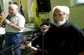 """ΜΟΝΑΔΙΚΗ ΣΤΙΓΜΗ: Ο παπα Παναγιώτης Νικίδης τραγουδάει με κλαρίνο τον Π.Μπαρμπούδη, """"μαθητή"""" του αείμνηστου Γιώργου Μπουρμά (ΒΙΝΤΕΟ)"""