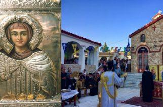 Θαυματουργή εικόνα της Αγίας Μαρίνας Μαϊστρου Έβρου που γιορτάζει σήμερα